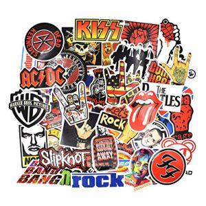 Chileeany 52 Pezzi  Adesivi Valigia Retro Vintage Stickers per Valigia Skateboard Chitarra Rock Band