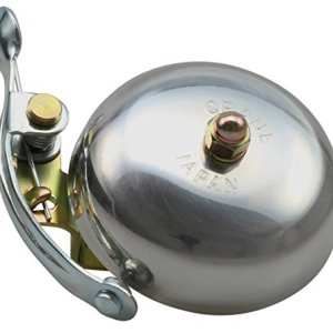 CRANE Bell Co Suzu W Steel Band Mount Campanello Bicicletta Argento Lucido 55 mm