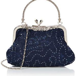 Joe Browns Moonlit Lace Bag Pochette Donna Blu One Size