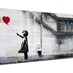 Large Canvas Prints of Banksys Girl with the Red Balloon for your Dining Room  Graffiti Wall Art  1050  Wallfillers by Wallfillers