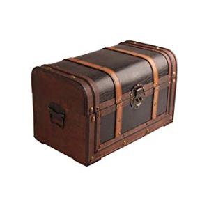 Myboxes scatola regalo scrigno per il tesoro dei pirati marrone 45x26x265