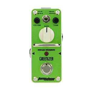 Pedale ad effetto overdrive di Aroma Music marchio di Tomsline Engineering green
