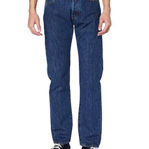 Levis 501 Original Fit Jeans Blu Stonewash 34W32L Uomo