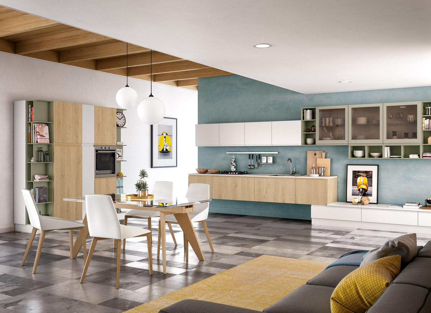 come arredare soggiorno 25 mq. Come Arredare Cucina Open Space E Soggiorno Distinguendo Gli Ambienti Arredare La Cucina
