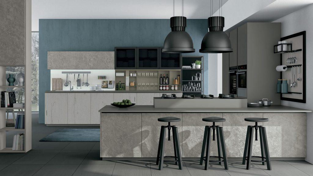 A modern eclectic living room with beautiful tufted chair and brass tripod floor lamp. Come Scegliere I Colori Delle Pareti In Cucina Arredare La Cucina