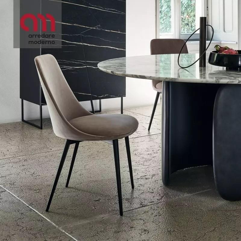 sedie design moderno per cucina bar e giardino in polipropilene alchimia flow sc729pp. Sedia Bonaldo Itala In Acciaio E Pelle Arredare Moderno
