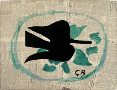 Braque_L'oiseau dans le feuillage_1961