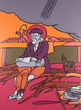 valerio-adami-lettera-dal-giappone-a-fool-on-the-roof-2001-acrilico-su-tela-cm-198x147