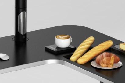 L'area colazione dotata di tostapane e di dispositivo scaldavivande