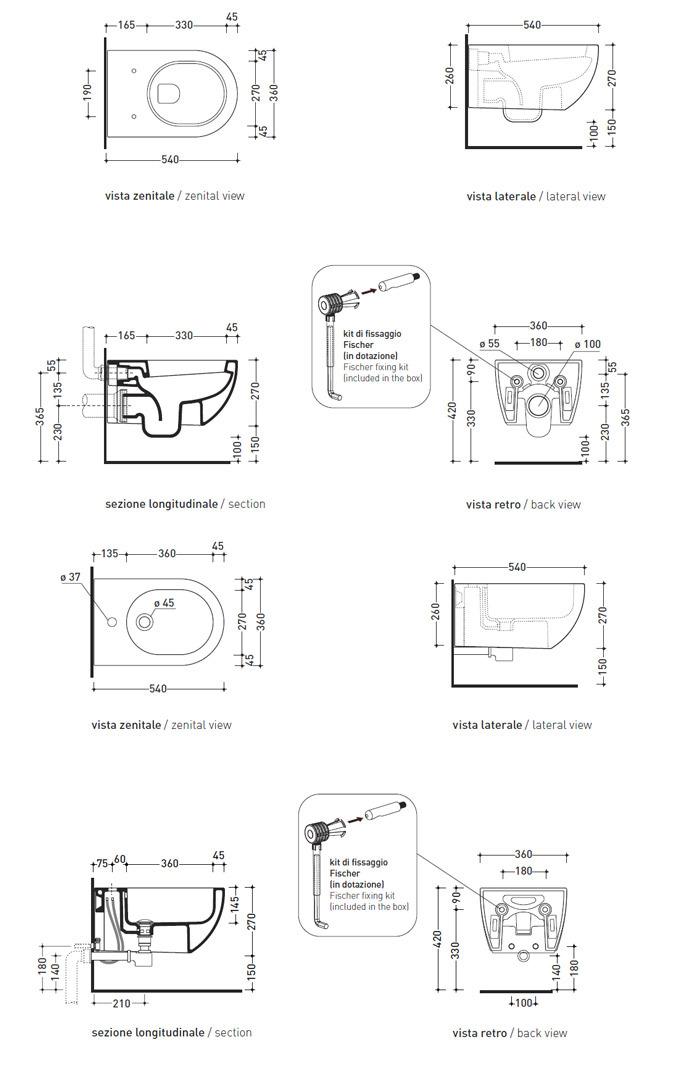 Flaminia Set App AP118AP218 Set Toilets And Bidet