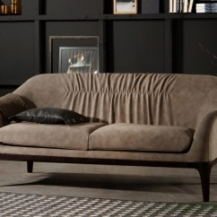 Taupe Color Leather Sofa Delux Deco Bed Tonin Casa Tiffany 7334 -