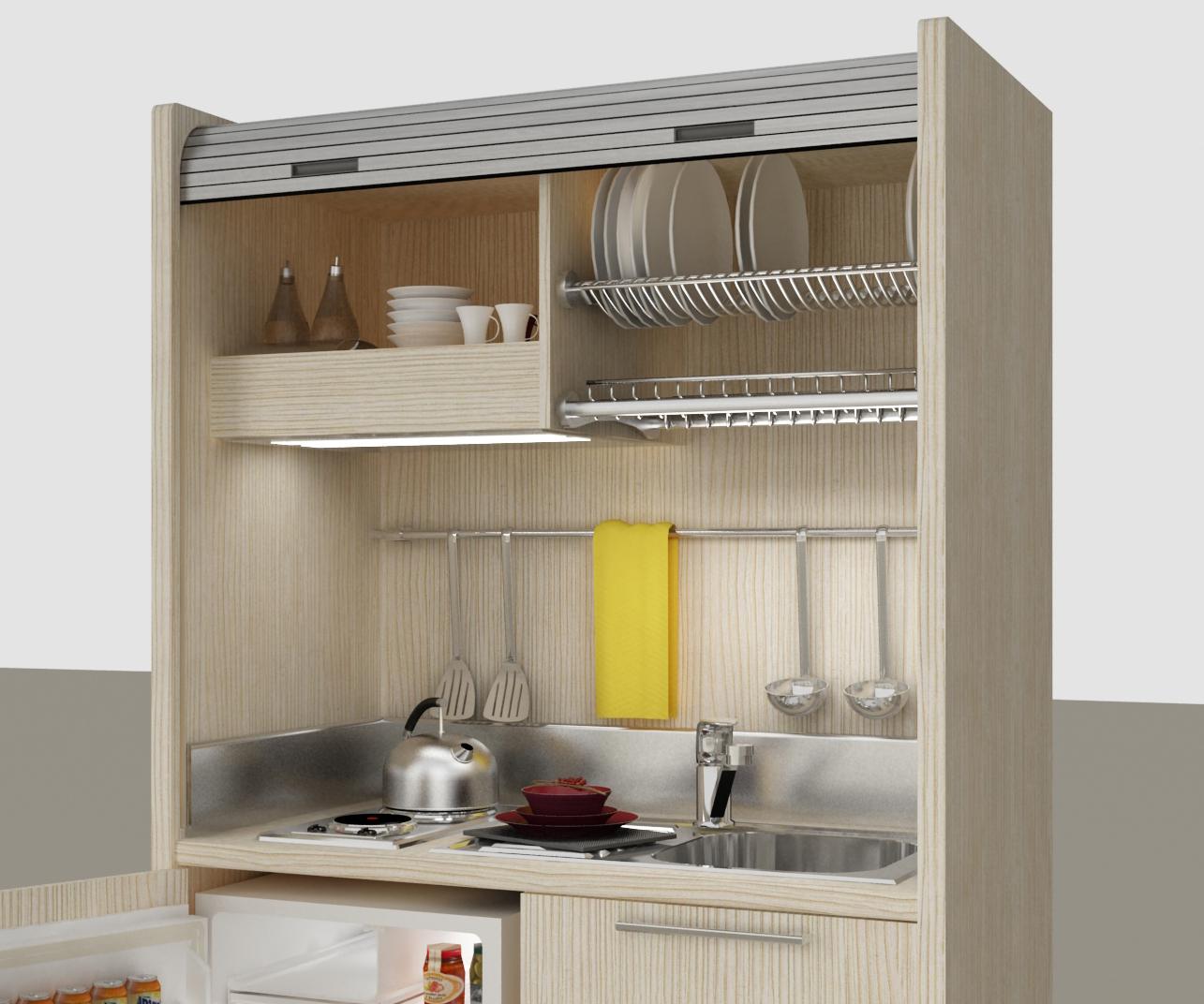 Mini Cucine Per Monolocali Cucina Monoblocco Star Cm Mini