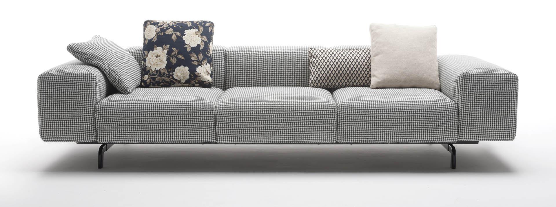 kartell sofa largo leather camelback 7150-7160 - sofás