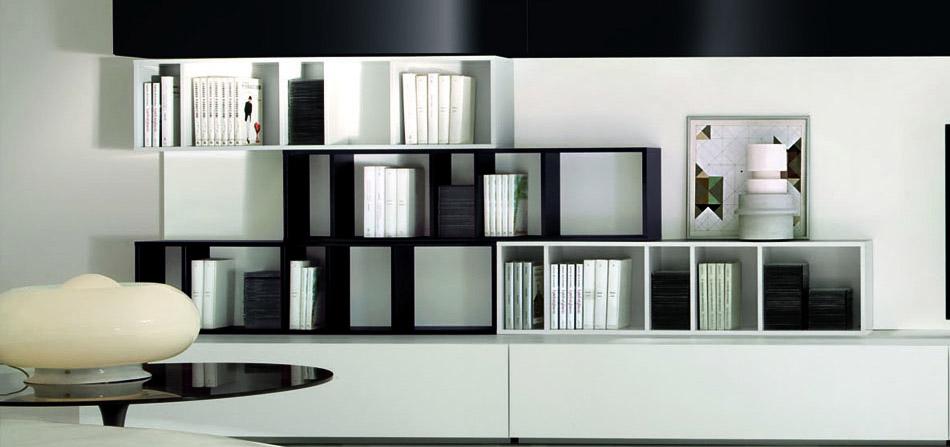Tre librerie in legno firmate Europeo  Arredica