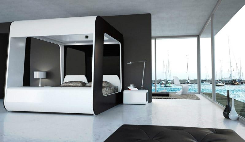 HiCan il letto a baldacchino multimediale  Arredica