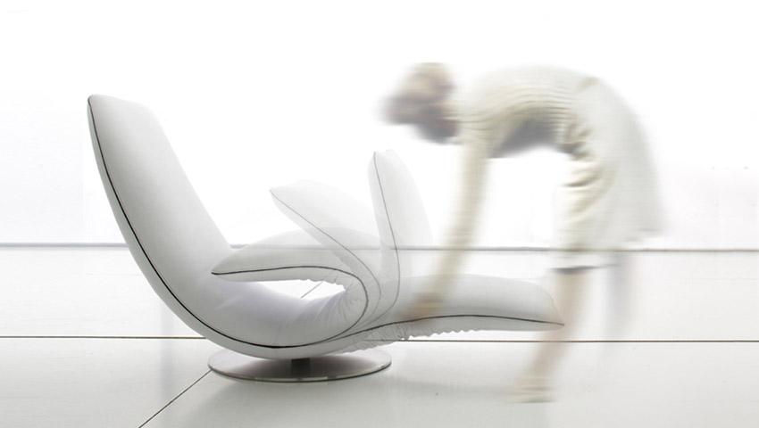 Ricciolo la poltrona chaise longue arrotolabile di