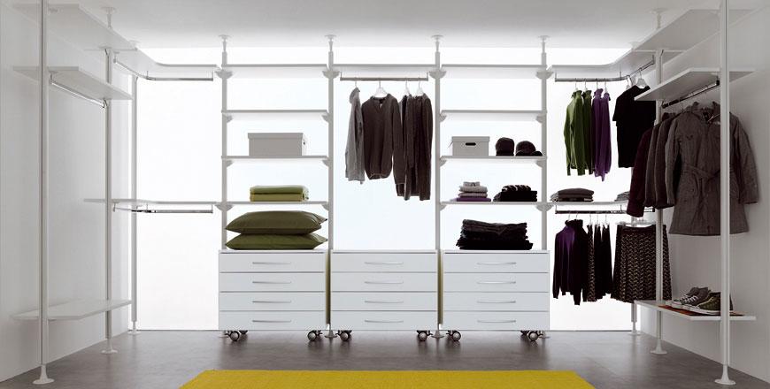 Web System Sistema Cabina Armadio o Libreria in Alluminio