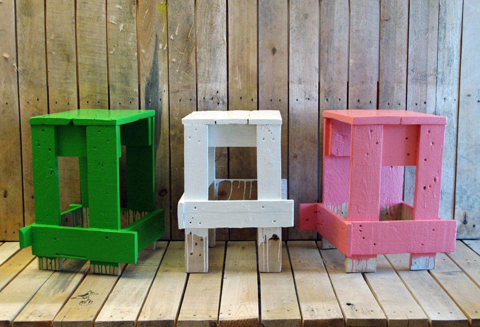 Godspeed e il legno riciclato in Sedie Sgabelli ed