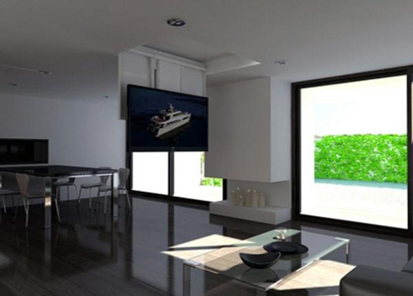 STAFFE TV MOVING DA SOFFITTO  AF  Staffe TV motorizzate e supporti elettrici da soffitto per