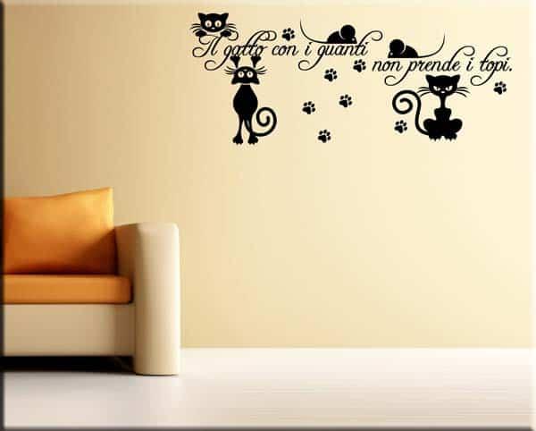 3d adesivo gatto, 6pcs gatti wall stickers, adesivi con gatto 3d murali rimovibili autoadesivi, per auto finestra toilette bagno camera da letto asilo nido. Adesivo Murale Frase Gatto Decorazioni Arredimurali