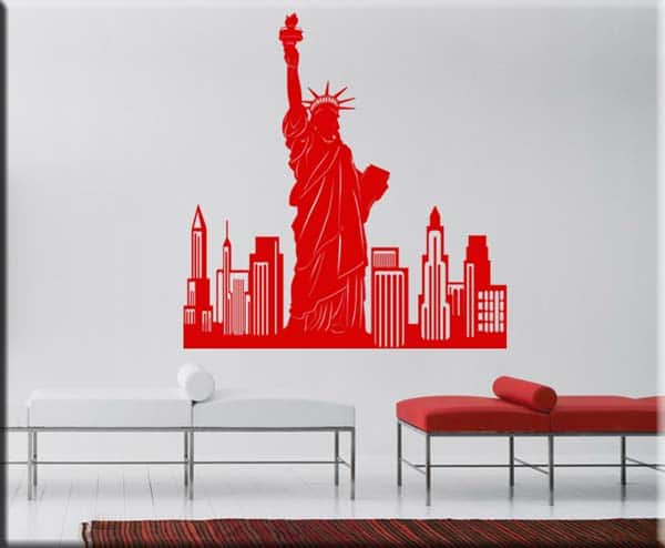 Composition with the most representative icons of the city of new york: Adesivi Murali New York City