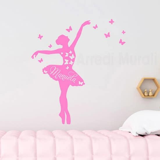 """adesivi murali con alberi per bambini """"albero degli uccellini""""; Adesivi Da Parete Personalizzati Nome Ballerina Arredimurali"""