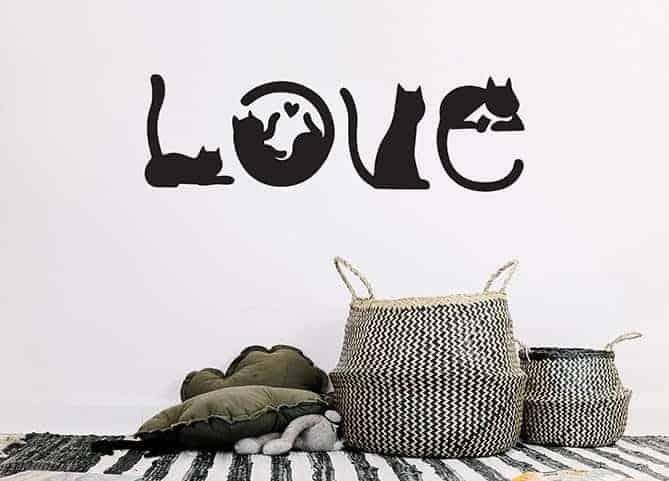 Gli amanti dei gatti sono milioni e questi splendidi. Adesivi Murali Gatti 4 Gattini Che Compongono La Parola Love Arredi Murali