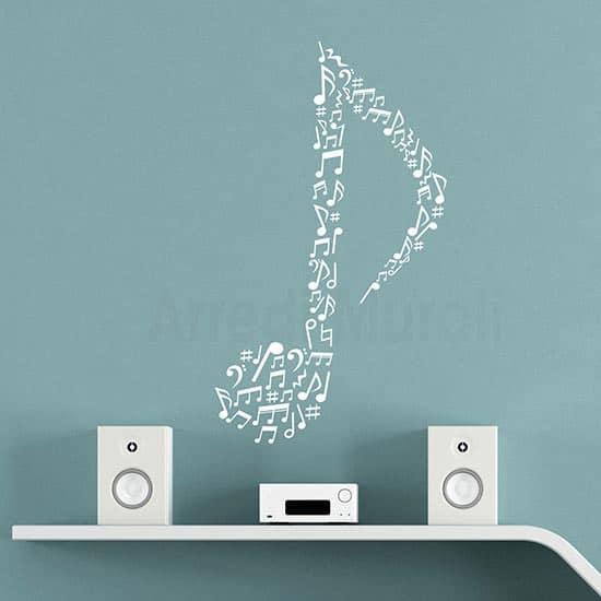 Essi hanno un'ottima resistenza nel tempo grazie ad un vinile opaco di alta qualità. Adesivi Da Parete Note Musicali Decorazioni Murali Dedicate Alla Musica