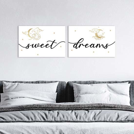 Sono un elemento decorativo che. Quadri Su Tela Sweet Dreams Decorazioni Da Parete Per Camera Da Letto