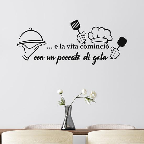 decorazioni per bagni e cucine: Adesivi Murali Per Cucina Frase Adesiva Da Muro Per Arredare
