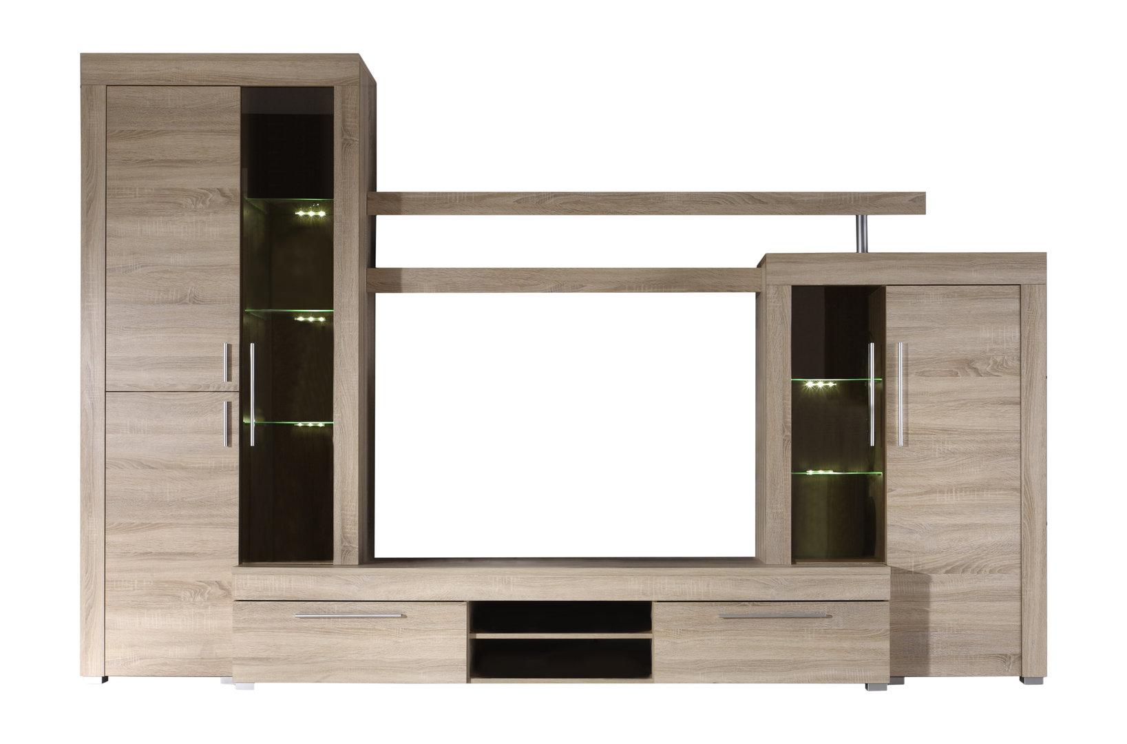 Soggiorno moderno Friend parete porta tv di design con led