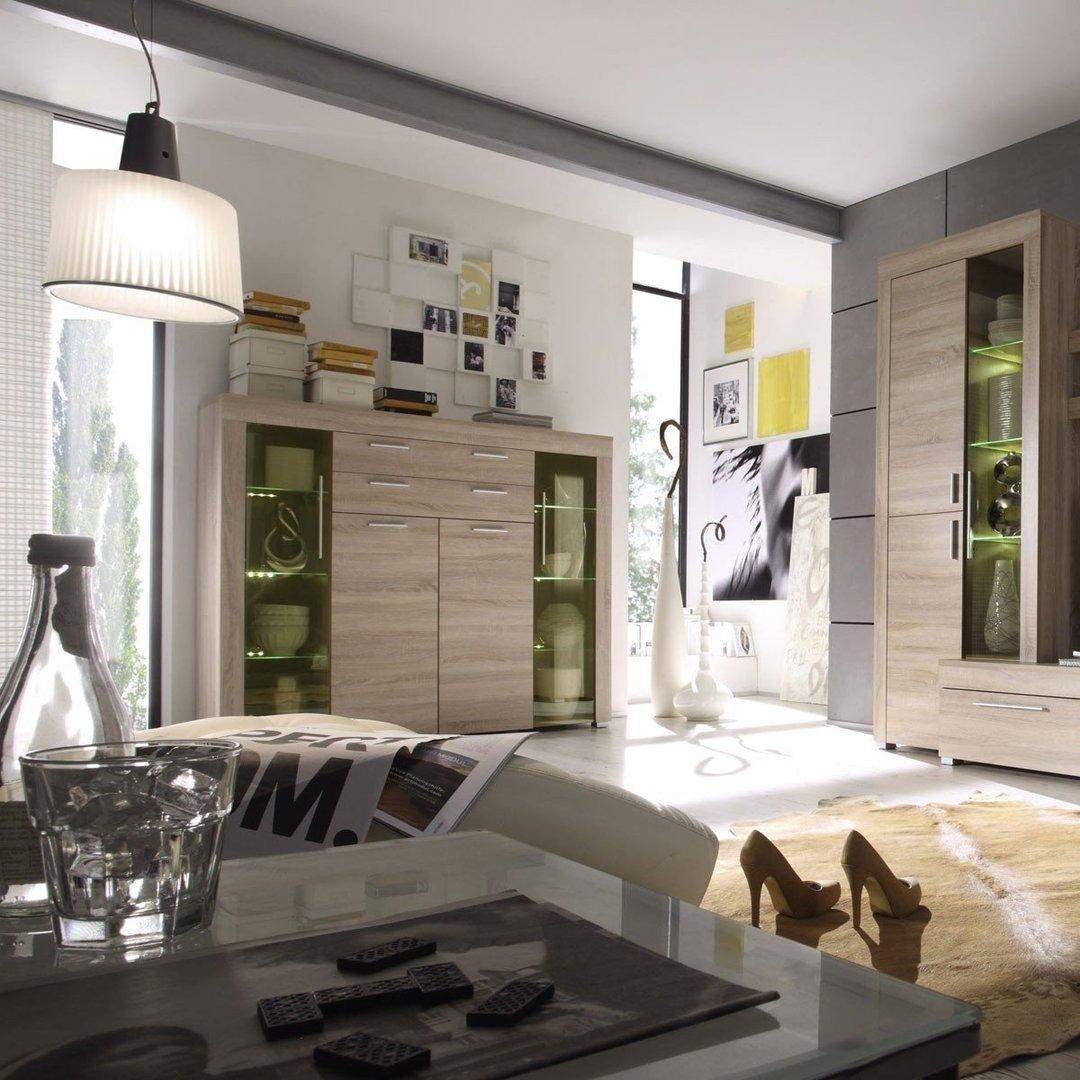 Vetrina moderna Azaleacredenza con led mobile soggiorno