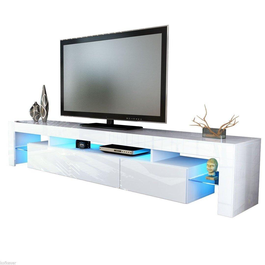 Porta tv Vivaldi mobile bianco con led RGB per soggiorno