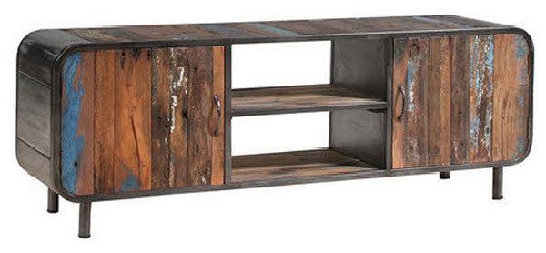 Porta tv moderno Senior mobile soggiorno in legno stile vintage