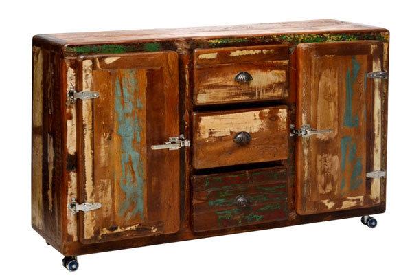 Credenza vintage Retrmadia moderna in legno massiccio riciclato