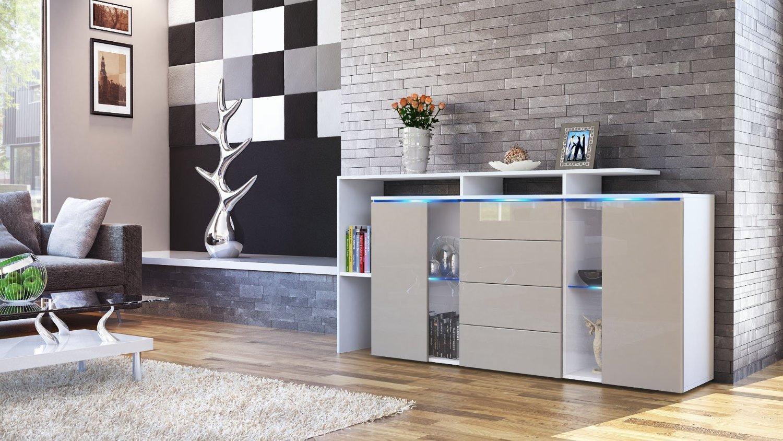 Credenza moderna Lecce madia con led mobile soggiorno di