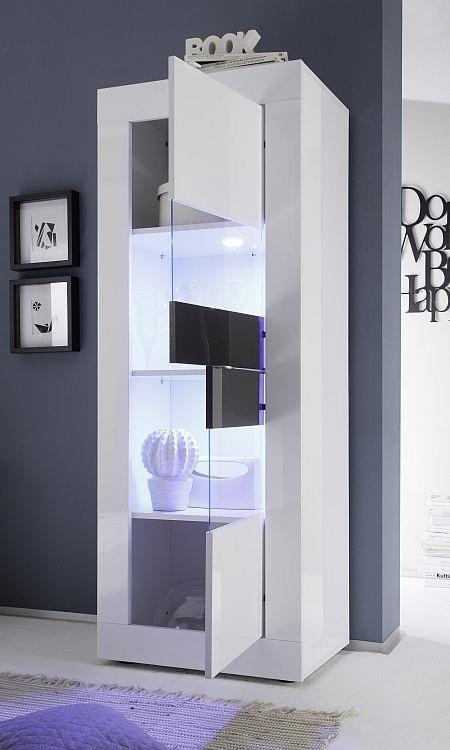 Vetrina moderna Square V2 credenza con led mobile soggiorno