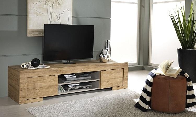 Porta tv moderno Country 02mobile soggiorno design rovere miele