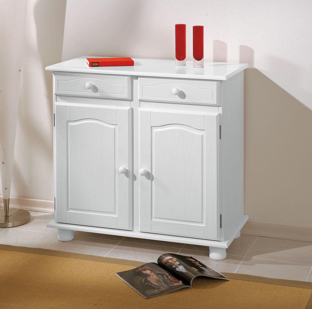 Credenza Fiona bianca mobile soggiornoingresso moderno in legno