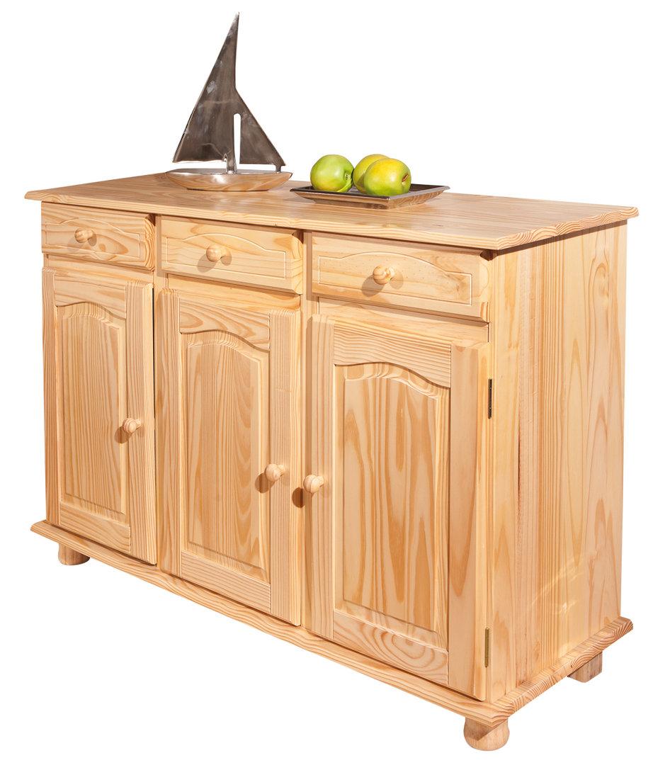 Norda credenza classica legno di pino naturale mobile