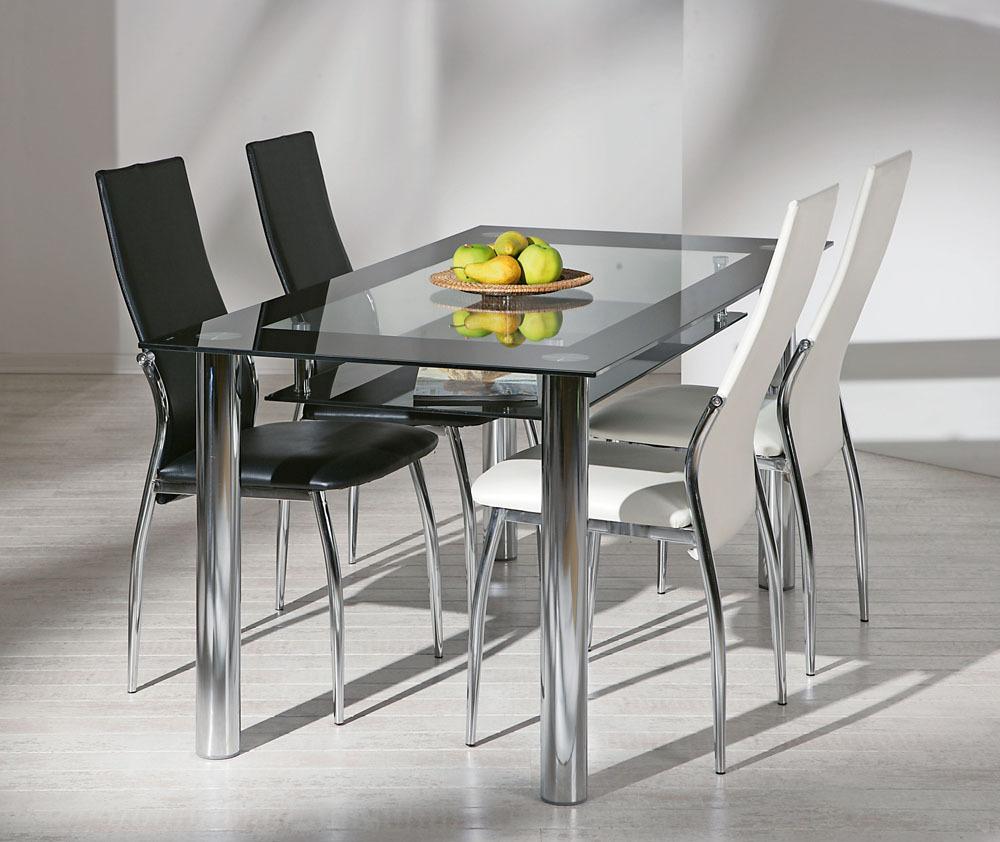 Glass tavolo moderno in vetro tavolo in due modelli per