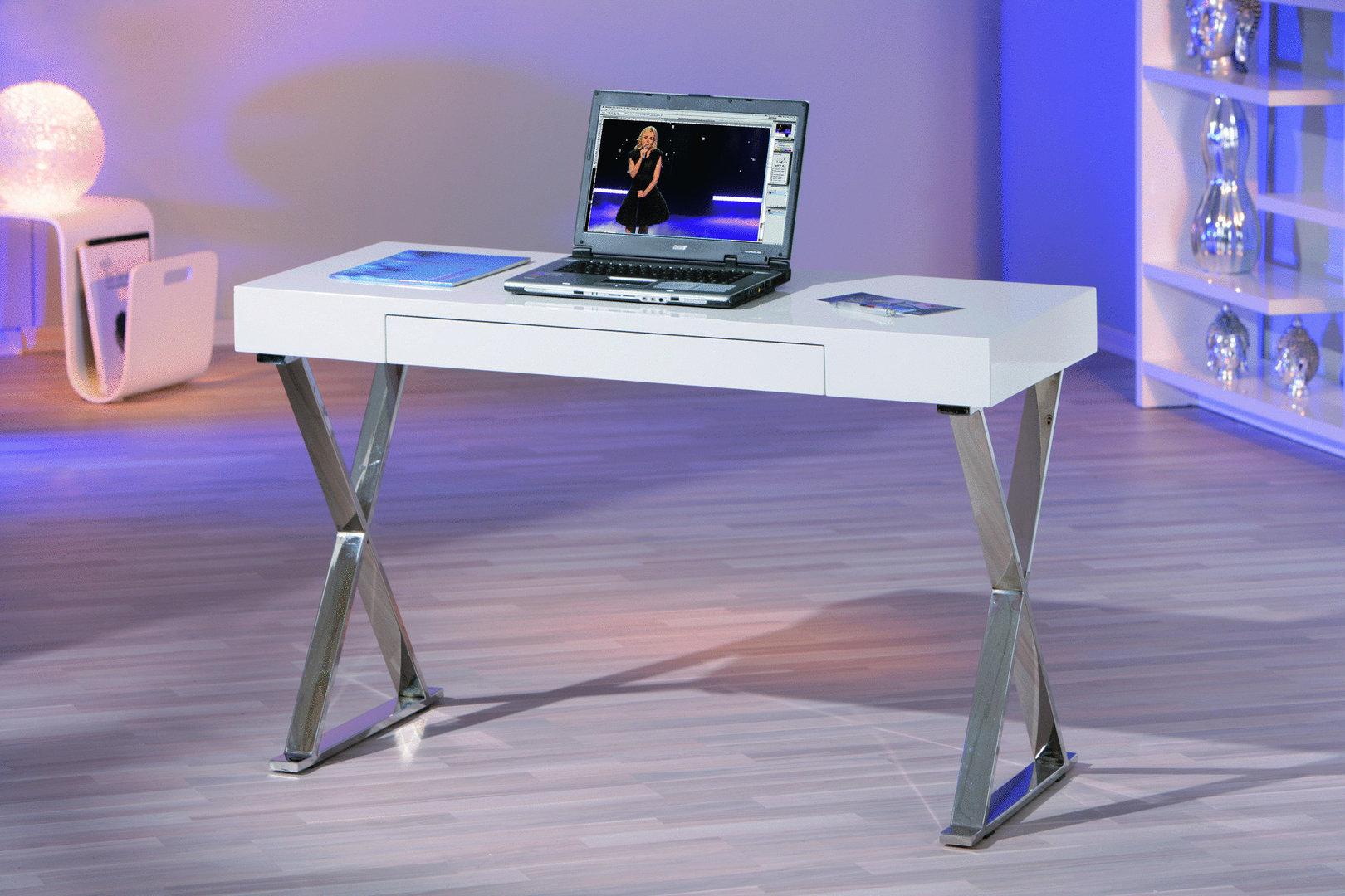 Mobile ufficio soggiorno di design scrivania bianca Simona