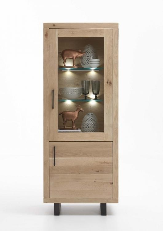 Vetrina in legno massiccio Gold credenza soggiorno moderno