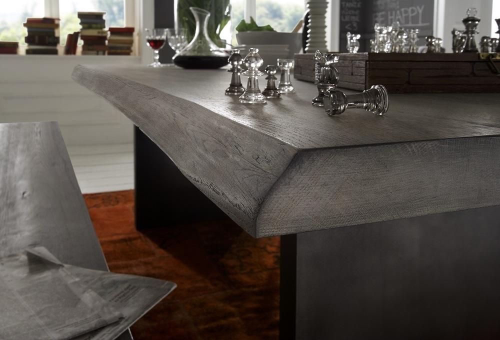 Tavolo da pranzo Gold in legno massiccio mobile moderno