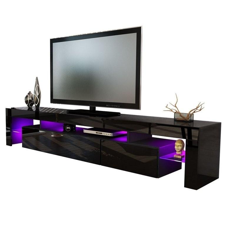 Vivaldi porta tv moderno nero frontali in 13 colori mobile