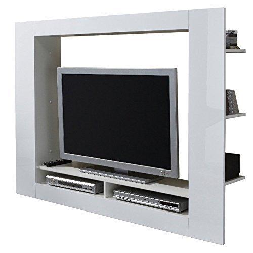 Porta tv moderno Quadro parete soggiorno design mobile bianco