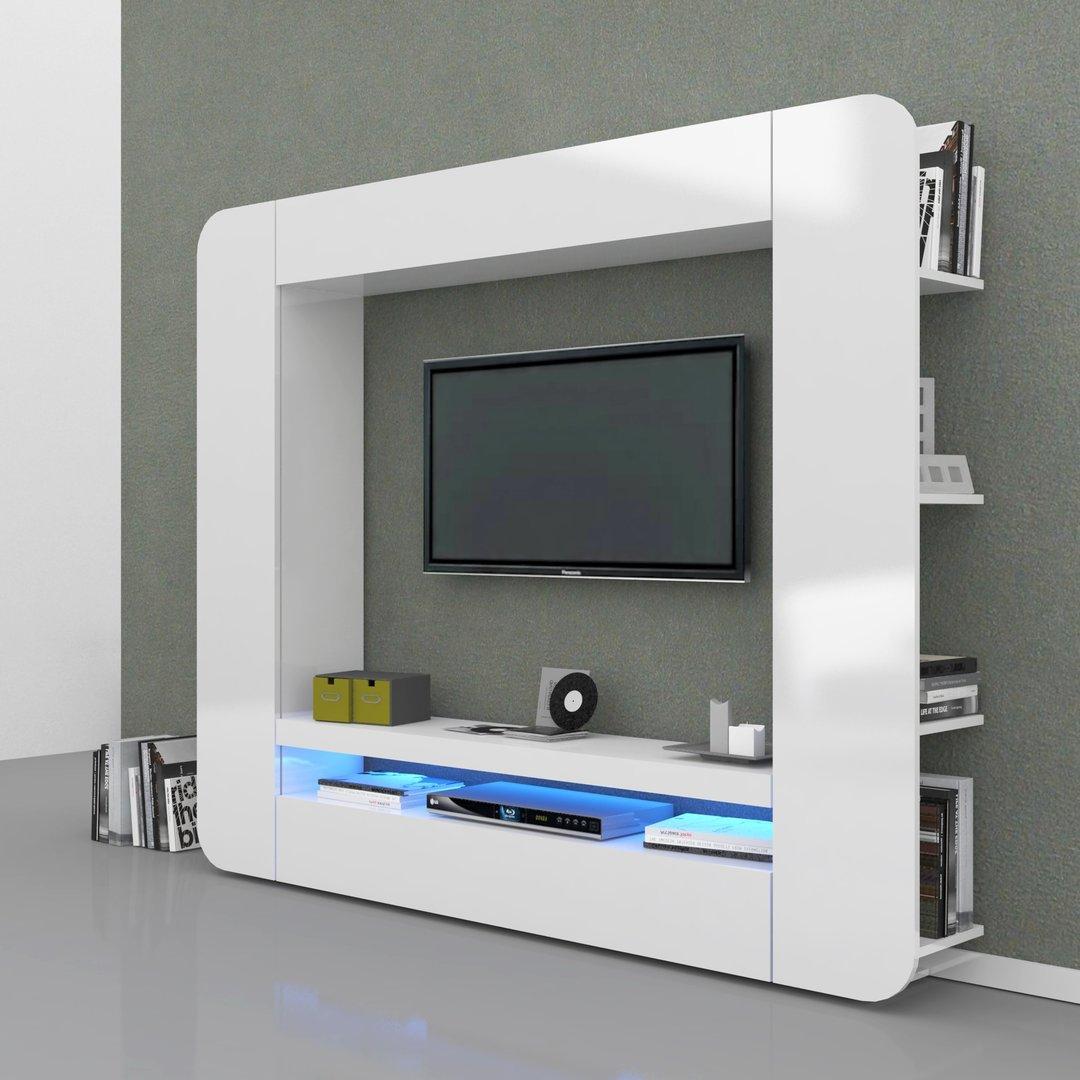 Soggiorno bianco o antracite Zurigo mobile porta tv moderno