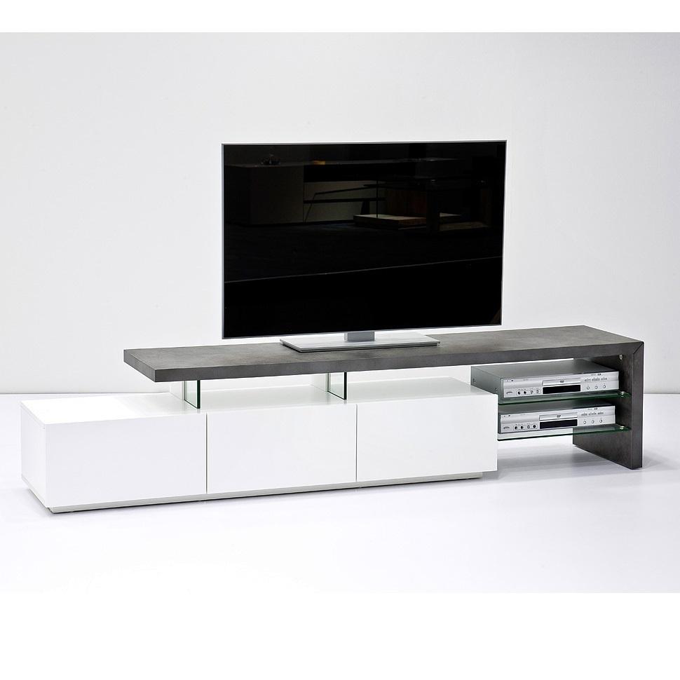 Porta tv moderno elegante Bergamo mobile soggiorno bianco