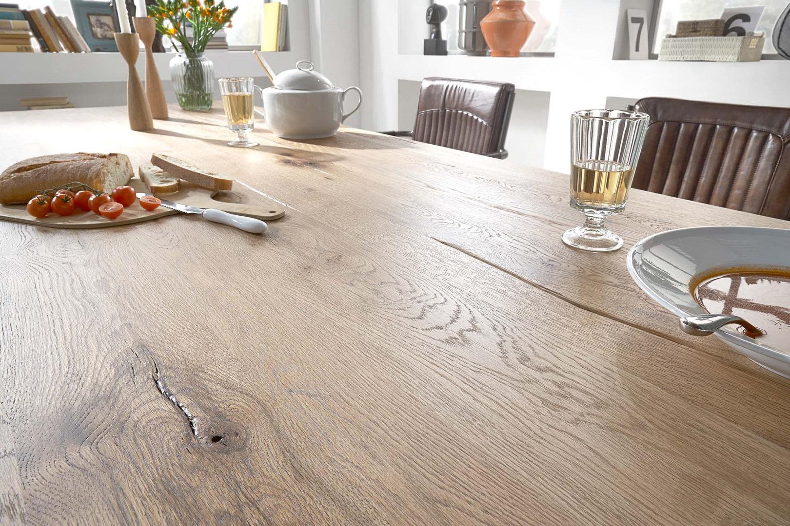 Tavolo da pranzo Monviso mobile legno massiccio design