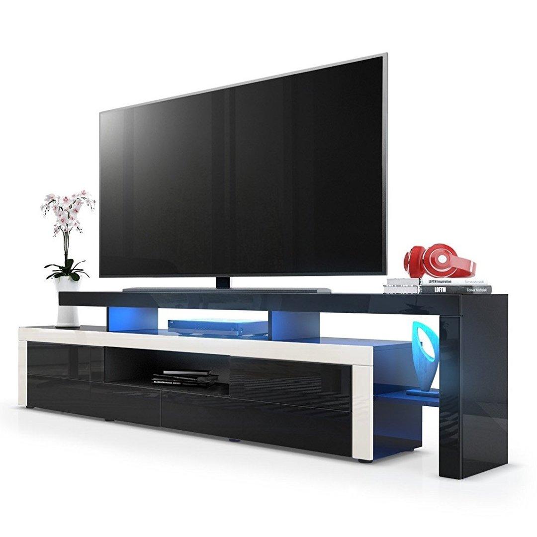 Portofino mobile porta tv moderno nero per soggiorno design